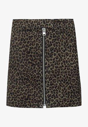 LENA  - Falda de cuero - brown
