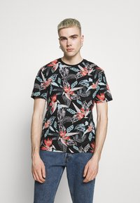 Only & Sons - ONSKLOP LIFE TEE - T-shirt con stampa - black - 0