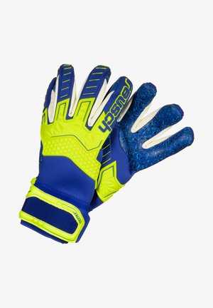 ATTRAKT FREEGEL G3 FUSION LTD - Torwarthandschuh - safety yellow / deep blue