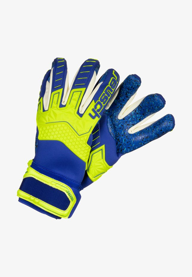 ATTRAKT FREEGEL G3 FUSION LTD - Maalivahdin hanskat - safety yellow / deep blue