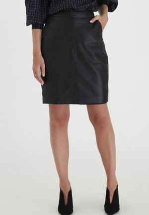 LUXE - Jupe crayon - black