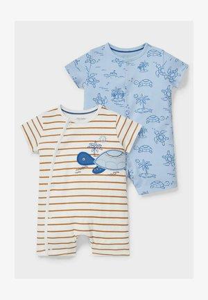 2 PACK - Pyjamas - blue / white