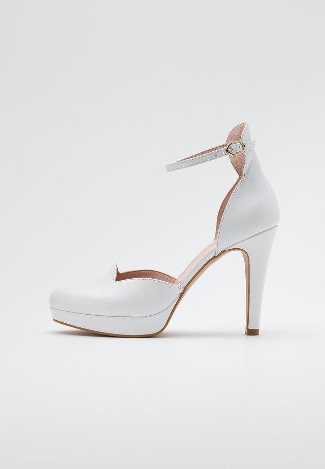High heels - casiopea nacar bianco