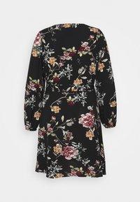 ONLY Carmakoma - CARLUXMILA PUFF KNEE DRESS - Day dress - black - 1