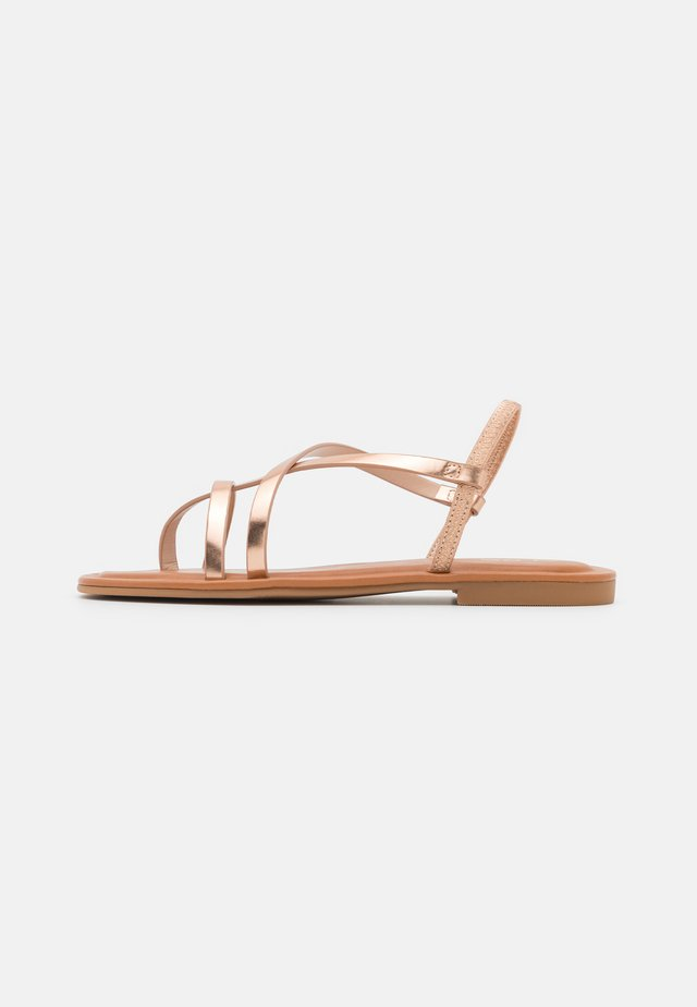 BROASA - Sandalias de dedo - rose gold
