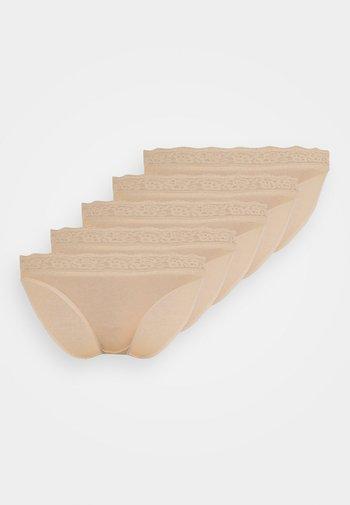 HIGH LEG 5 PACK - Slip - nude
