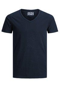 Jack & Jones - 3 PACK V-NECK - Basic T-shirt - grey/blue/black - 5