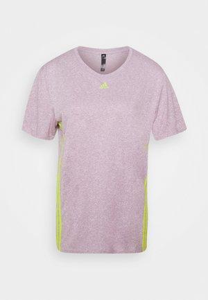 3 STRIPE TEE - Sports shirt - berry