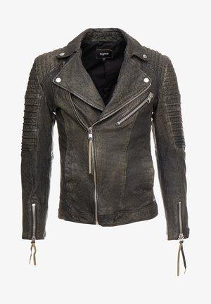 BALICK - Kožená bunda - vintage black
