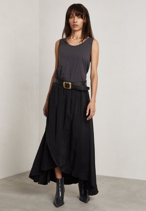 RICHARDS - A-line skirt - charcoal