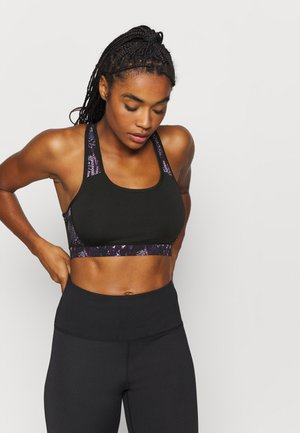 ANIMAL - Medium support sports bra - black/blue