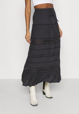 MIDI FLARE SKIRT - Maxi skirt - black