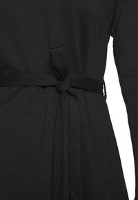 Object - OBJSAVA L/S V-NECK NOOS - Day dress - black - 4