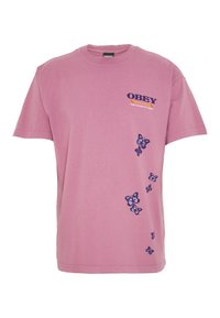 Obey Clothing - TO THE CHILDREN - T-shirt con stampa - cassis - 0