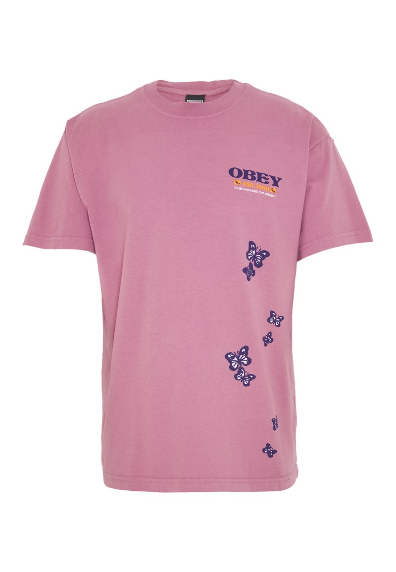 Obey Clothing - TO THE CHILDREN - T-shirt con stampa - cassis