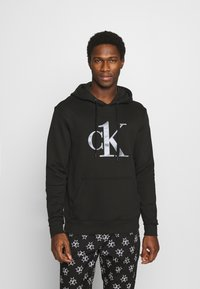 Calvin Klein Underwear - ONE RAW EDGE HOODIE - Maglia del pigiama - black - 0