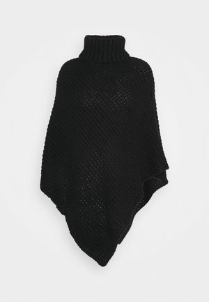 PCSTACY PONCHO - Cape - black