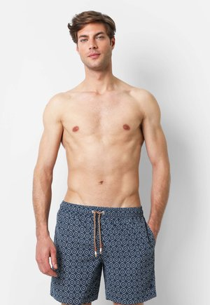 WITH CIRCLE PRINT - Badeshorts - indigo