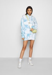 Missguided - PLAYBOY OVERSIZED HOODY DRESS - Korte jurk - blue - 1