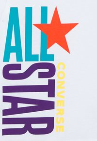 Converse - ALL STAR STACKED TEE - Print T-shirt - white - 2