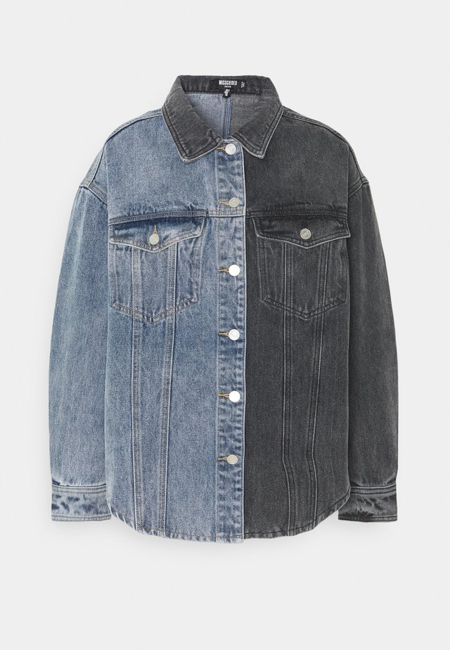 COLOURBLOCK - Button-down blouse - black