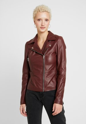 YASSOPHIE JACKET - Leather jacket - tawny port