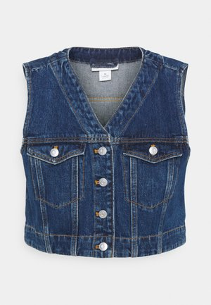 VERA VEST - Waistcoat - blue medium dusty