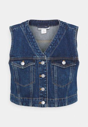 VERA VEST - Waistcoat - blue medium dusty