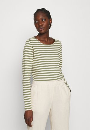 NEVADA  - Long sleeved top - green/white