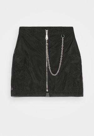 DROPOUT SKIRT - Minijupe - black