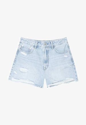 MIT RISSEN  - Szorty jeansowe - mottled blue