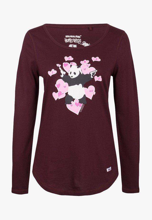 BRANDALISED - T-shirt à manches longues - bordeaux