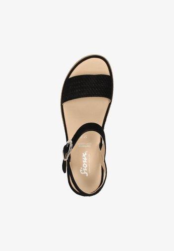 ACHARA - Sandals - schwarz