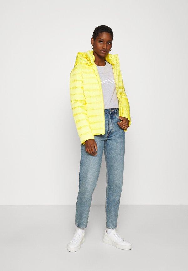 Calvin Klein CORE LOGO - T-shirt z nadrukiem - light grey heather Nadruk Odzież Damska WLFA OL 2