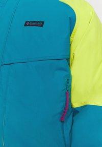 Columbia - POWDER KEGINTERCHANGE - Kurtka narciarska - fjord blue/bright chartreuse - 6