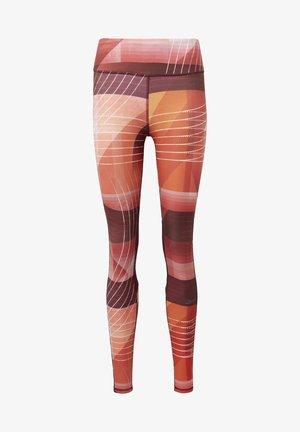 RUNNING LUX BOLD LEGGINGS - Legginsy - red