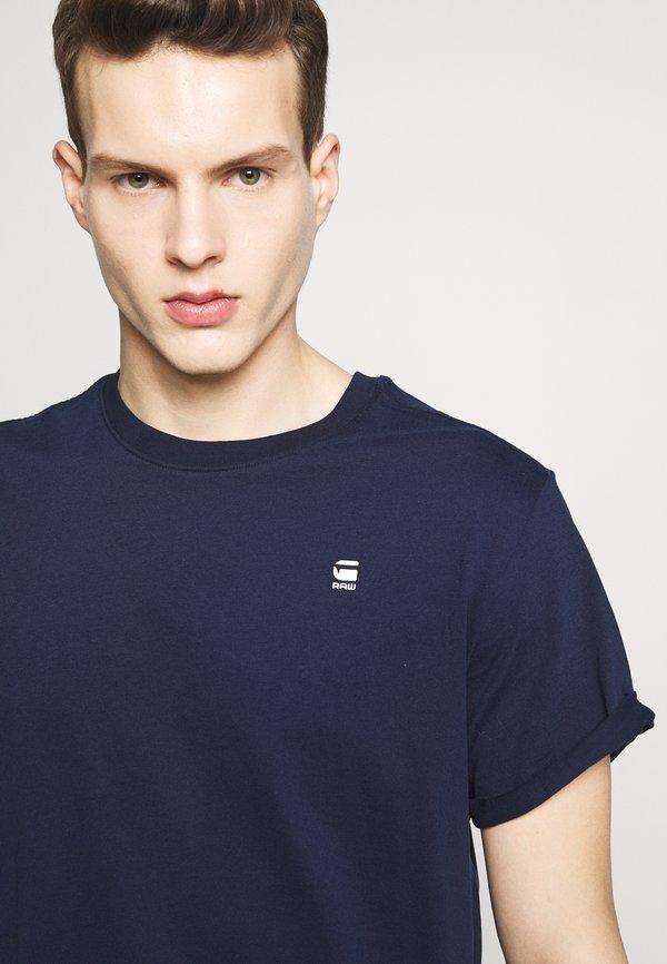 G-Star LASH ROUND SHORT SLEEVE - T-shirt basic - sartho blue/granatowy Odzież Męska IOCI