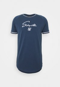 SIKSILK - SIGNATURE PIPED TECH TEE - T-shirt z nadrukiem - navy - 3