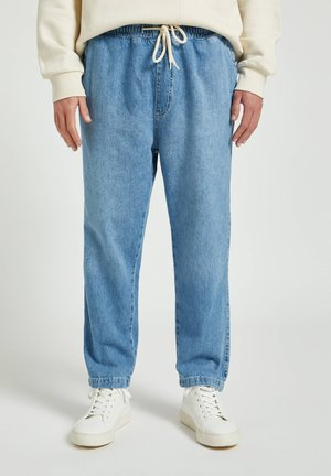 Relaxed fit jeans - mottled blue