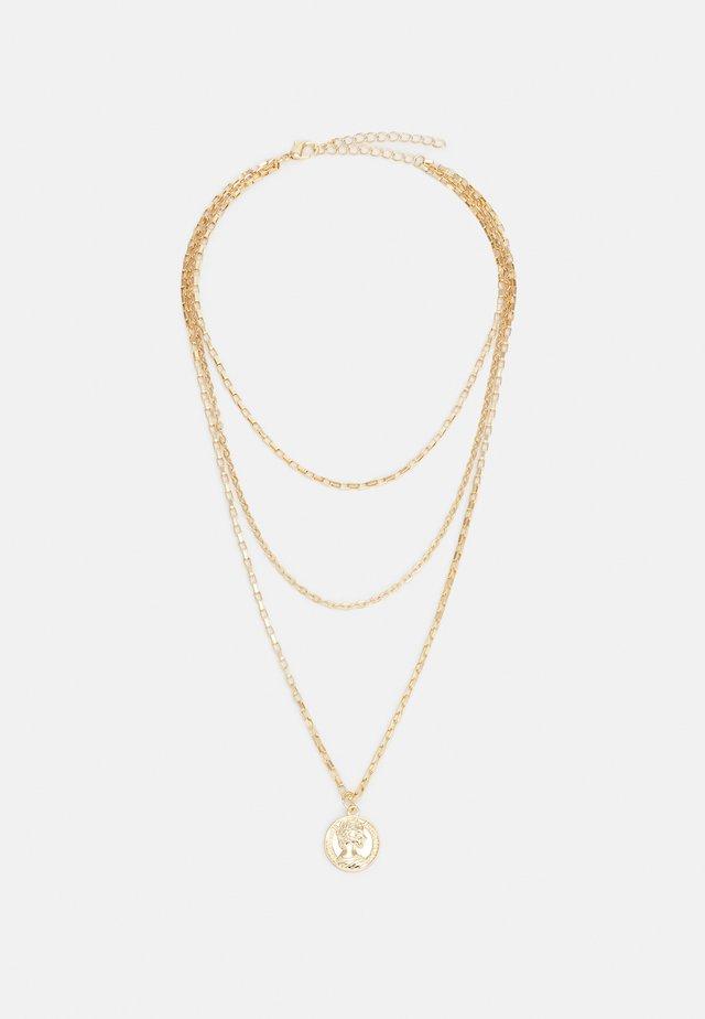 LAYERING AMULET NECKLACE UNISEX - Necklace - gold-coloured