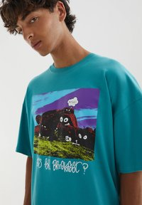 PULL&BEAR - Print T-shirt - evergreen - 3