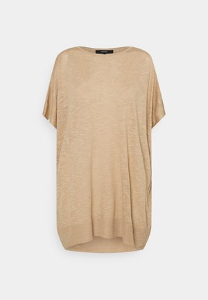 VMFLYSTA OVERSIZE BLOUSE - Basic T-shirt - beige