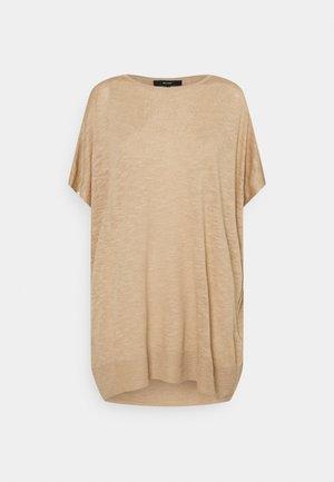VMFLYSTA OVERSIZE BLOUSE - T-shirts - beige