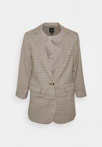 MICRO CHECK - Short coat - black