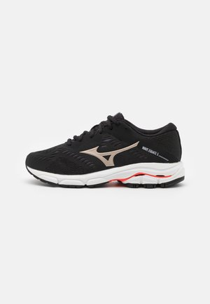 WAVE EQUATE 5 - Stabilty running shoes - black/platinum gold/ignition red