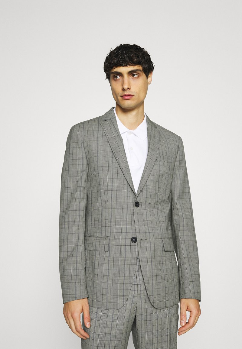 Calvin Klein Tailored - PRINCE OF WALES SUIT - Suit - grey
