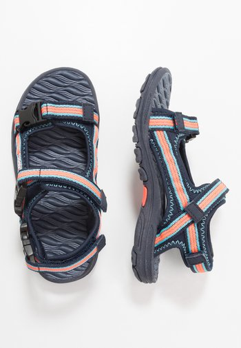 RUSHEEN - Chodecké sandály - navy/coral