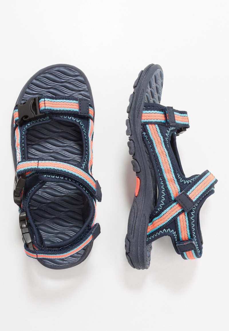 Kappa - RUSHEEN - Walking sandals - navy/coral