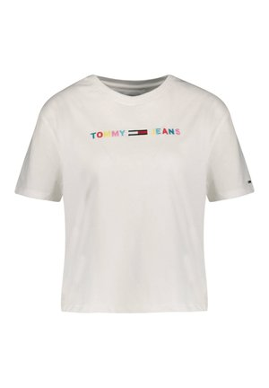 COLORED LINEAR LOGO TEE - Print T-shirt - weiss (10)