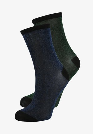DINA SOLID GLITTER  2 PACK - Socks - blue nights/botanical garden